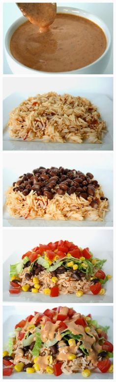 Must try out this chipotle sauce (plus a great dinner idea!) Burrito Bowl with Creamy Chipotle Sauce Mexican Food Recipes, Vegetarian Recipes, Cooking Recipes, Healthy Recipes, Vegetarian Burrito, Think Food, I Love Food, Crockpot, Great Recipes
