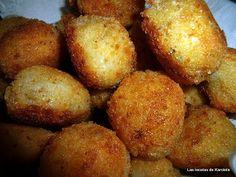 Bocaditos de patata y cebolla con corazón de chorizo (optativo)