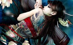 Fantasy - Koi Tattoo Wallpaper