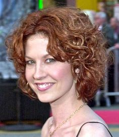 Casual short curly hairstyles
