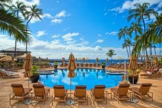 Another beautiful day to lounge at the Pool at Manele Bay! Mahalo to @andy beal for this amazing photo!