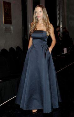 Ewa Chodakowska at La Mania's SS 14 fashion show wearing La Mania dress