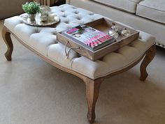 NEW Petit Royale Ottoman, Upholstered Ottoman, Upholstered Coffee Table  From La Residence Interiors £420.00 | Estar | Pinterest | Upholstered  Coffee Tables, ...