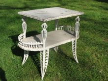 Antique Victorian Wicker Table