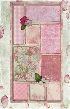 Shabby Chic Shadowbox by chaoticartworks, via Flickr