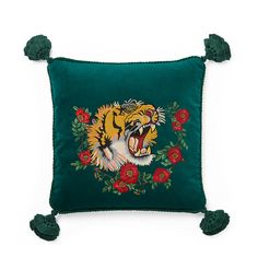 Gucci tiger throw pillow