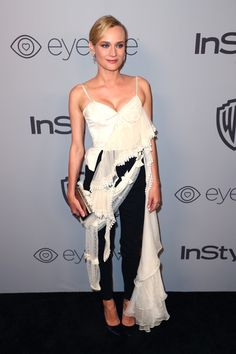 Actor Diane Kruger attends the 2018 InStyle and Warner Bros. 75th Annual Golden Globe Awards Post-Party at The Beverly Hilton Hotel on January 7, 2018 in Beverly Hills, California.