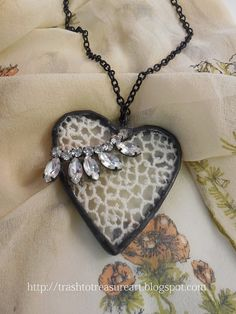 Soldered Heart Vintage Lace Necklace