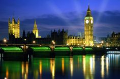 Big Ben and the Parliament building, London.