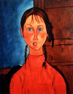Amedeo Modigliani. Obsessed with all his portraits especially the eyes.