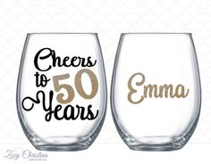Cheers to 50 years  50th birthday gift for women - 50th birthday party ideas -  by ZoeyChristina