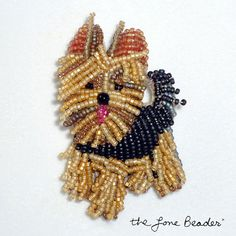 Ready to ship! YORKIE Yorkshire Terrier dog beaded canine art by thelonebeader, $125.00