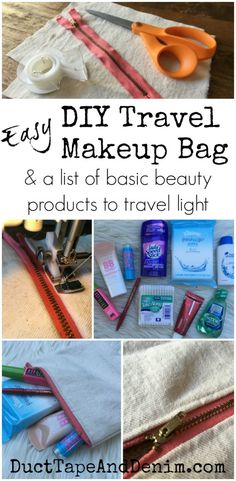 DIY Travel Makeup Ba