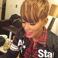 Guess who it is? Its Keke Palmer Short Sassy Hair, Short Hair Cuts, Pixie Cuts, Short Pixie, Love Hair, Great Hair, Curly Hair Styles, Natural Hair Styles, Cut Life
