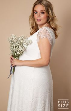 67b9141c908 Kristin Plus Size Maternity Wedding Gown Long Ivory - Maternity Wedding  Dresses
