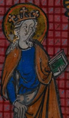 Detail from medieval manuscript, British Library Stowe MS 17 'The Maastricht Hours' f13v