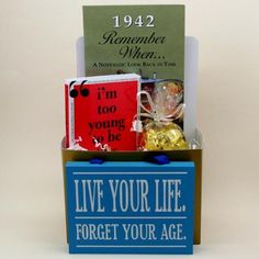 Remember this for my Dad's birthdya this year.....1942 Golden Years Gift Basket - 70th Birthday Gift $27.99