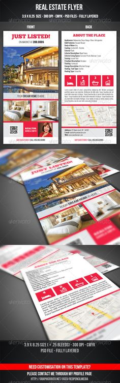 Real Estate Flyer — Photoshop PSD #marketing #rent • Available here → https://graphicriver.net/item/real-estate-flyer/7510462?ref=pxcr