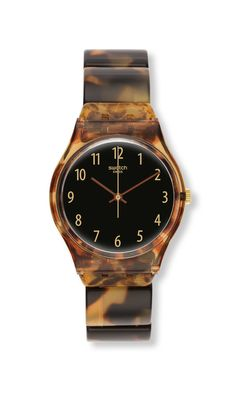 18d3b35e059 Swatch Watch Ecaille Tortoise Shell Watch