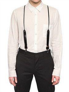 Ann Demeulemeester - Leather Suspenders | FashionJug.com