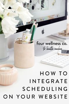 How To Integrate Scheduling On Your Website | Health Coaching Business - Are you looking for a simple way to seamlessly integrate scheduling capability into your Squarespace website? Click to learn about our favorite tool for adding scheduling to your wellness website, allowing your clients to easily schedule health coaching sessions, workshops, group classes and more! | Appointment Scheduling | Squarespace Tips | Website Design Tips | Four Wellness Co. #squarespace #healthcoach…