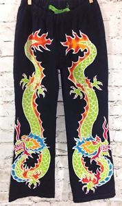 Gypsy-Monkey-Asian-Magical-Dragon-Pants-Size-8-9-Girl-039-s-Boutique-Fair-Trade-EUC #GypsyMonkey #Boutique #FairTrade #Asian #Dragon #Handmade