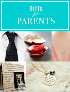 Wedding thank-you gifts for parents