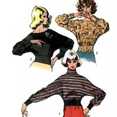 Simplicity 5286 Vintage 70s Misses' Blouse Sewing by retrowithlana, $6.00