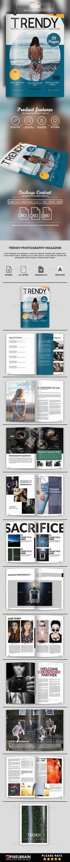 Multipurpose Magazine Template InDesign INDD - 30 Pages A4  US - fashion design brochure template