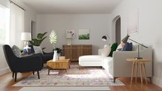 Behind The Design: A Dark Living Room Becomes Bright & Welcoming | Decorist