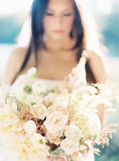 Lush white bouquet by Saipua