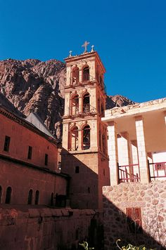 The Orthodox Monastery of St Catherine (Egypt) stands at the foot of Mount Horeb where, the Old Testament records, Moses received the Tablets of the Law. The entire area is sacred to three world religions: Christianity, Islam, and Judaism.