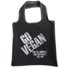Go Vegan Pinstripe Tote from Lois Eastlund for $30.00