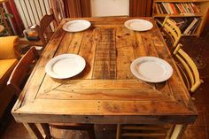 Pallet Wood Dining Table Plan | Pallet Furniture DIY
