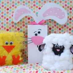 Spring Animal 2x4s {Kids Easter Crafts}
