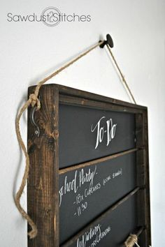 How to build a chalkboard organizer with step-by-step instructions by sawdust 2 stitches.com