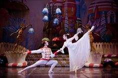 Dana Benton and Viacheslav Buchkovskiy in Colorado Ballet's The Nutcracker