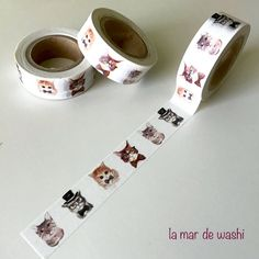Washi Tape gatos elegantes
