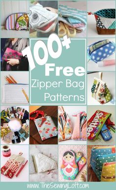 100 Free Zipper Pouch Patterns