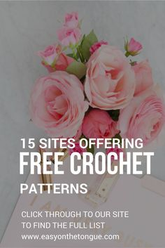 Before you buy another pattern, consult our list of sites that free crochet patterns - click through   to http://easyonthetongue.com/15-sites-offer-free-crochet-patterns/