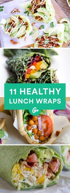 They're the best thing since sliced bread. /eat/healthy-lunch-ideas-quick-and-easy-wraps (Vegan Cauliflower Wraps) Healthy Lunch Wraps, Healthy Snacks, Healthy Eating, Healthy Recipes, Yummy Recipes, Easy Healthy Lunch Ideas, Healthy Menu, Stop Eating, Clean Eating