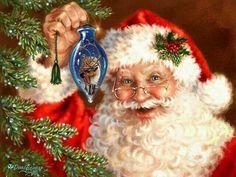 Santa's favorite blue ornament