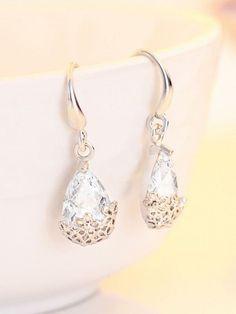 3.00 Carat Big Pear Diamond Earrings 18KT White Gold #buyfinediamonds #Chandelier Diamond Earrings, Pearl Earrings, Drop Earrings, Stock Clearance Sale, White Gold Jewelry, Pear Diamond, Jewelry Watches, Fine Jewelry, Chandelier