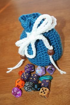 Geeky Craft Project: Crocheted Mini Dice Bag