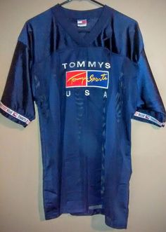 Bootleg Vintage Tommy Hilfiger Jersey Tommys Sports Logo Shirt Large 90's USA #TommySports #PoloRugby