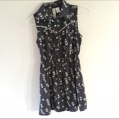 NWOT Mimi Chica Shirtdress Cute little dress with a retro vibe! Never been worn, it's been hanging out in my closet for a long time! Buttons in the front. Mimi Chica Dresses