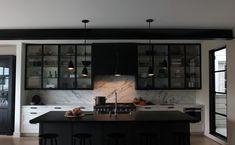 San Francisco Kitchen - Dark Kitchen - Black - Marble - Moody #NICOLEHOLLIS Photo by Josephine Liu