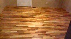 Pallet wood floor project from beginning to end done on a concrete diy pallet wood flooring solutioingenieria Gallery