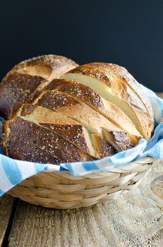 Sliced Pretzel Bread by Seeded at the Table (Could you imagine using this for grilled cheese?!?!)