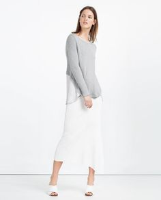 Image 1 of CONTRASTING SWEATER from Zara